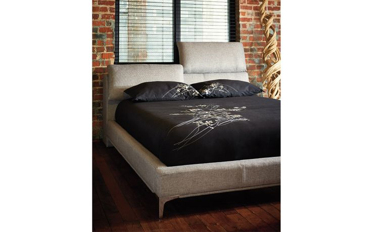 Queen bed Robin - Contemporary Style - Jaymar Collection. Adjustable cushioned headboard