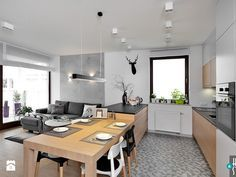 REALIZACJA mieszkania z czarnym jeleniem - Kuchnia, styl nowoczesny - zdjęcie od HOME & STYLE