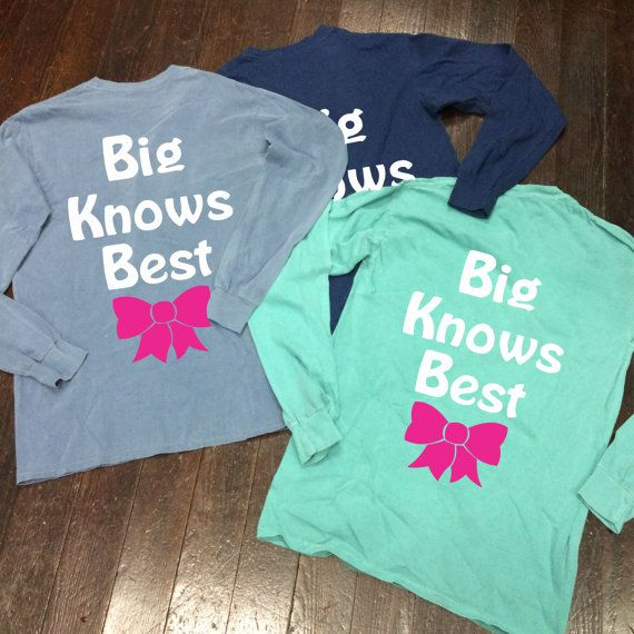 Big Knows Best Bow Sorority Monogram/Letter by CampusConnection