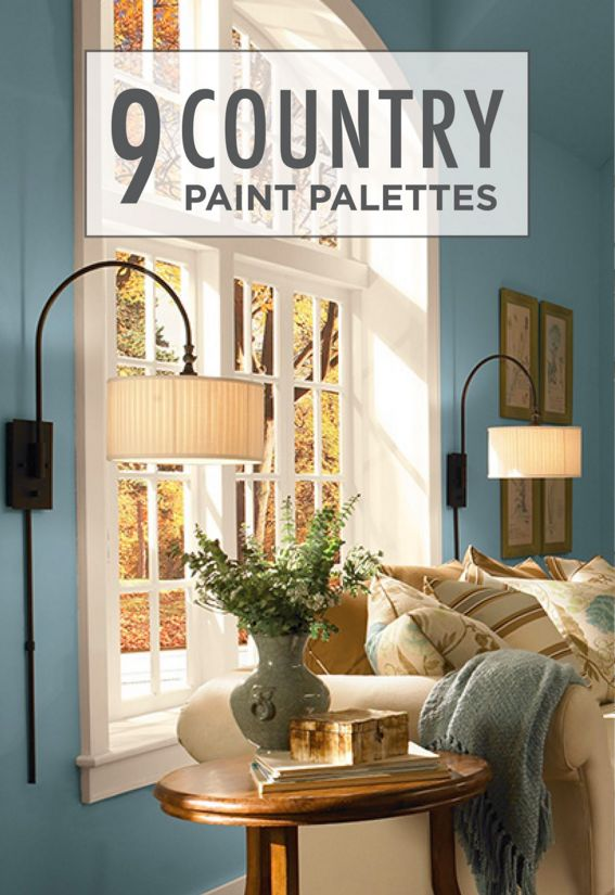 30 best country style inspiration images on pinterest for Country home interior paint colors