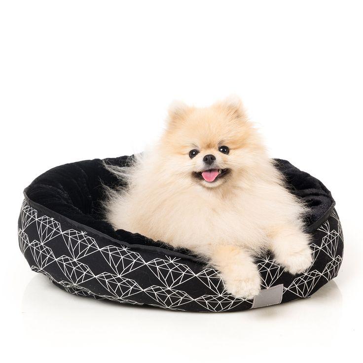 FuzzYard Black Diamond Reversible Pet Bed