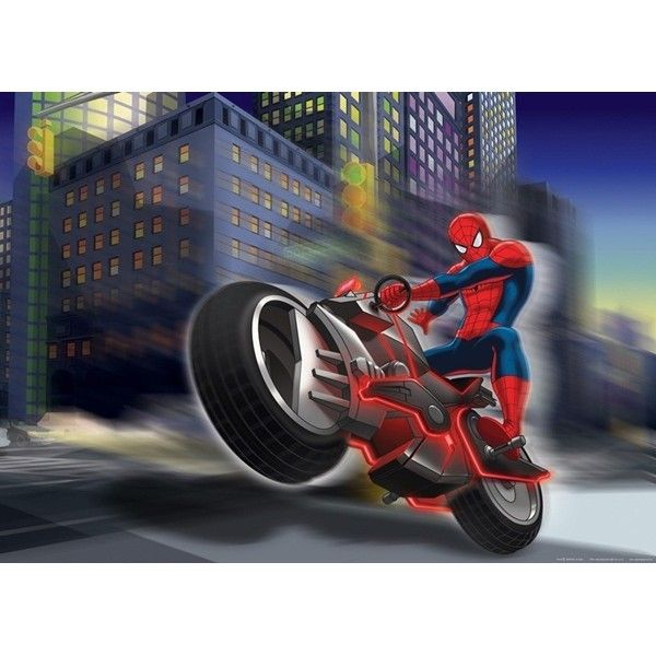Fotomural Spiderman On Bike Ftdm-0716