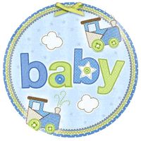 Welcome your new little bundle of joy with Carter's Baby Boy choo-choo train theme shower party supplies and favors.