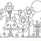 Cute scarecrow picture to color, or use as a bulletin board inspiration.  Reduce and use for parent letters. Happy Fall!  By Bunky Business...