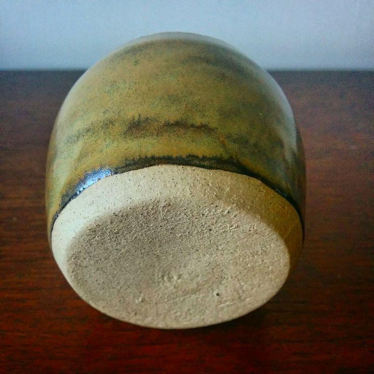 Ceramic glazed stoneware pottery Sake Glass (foot) - Lewis Ryan