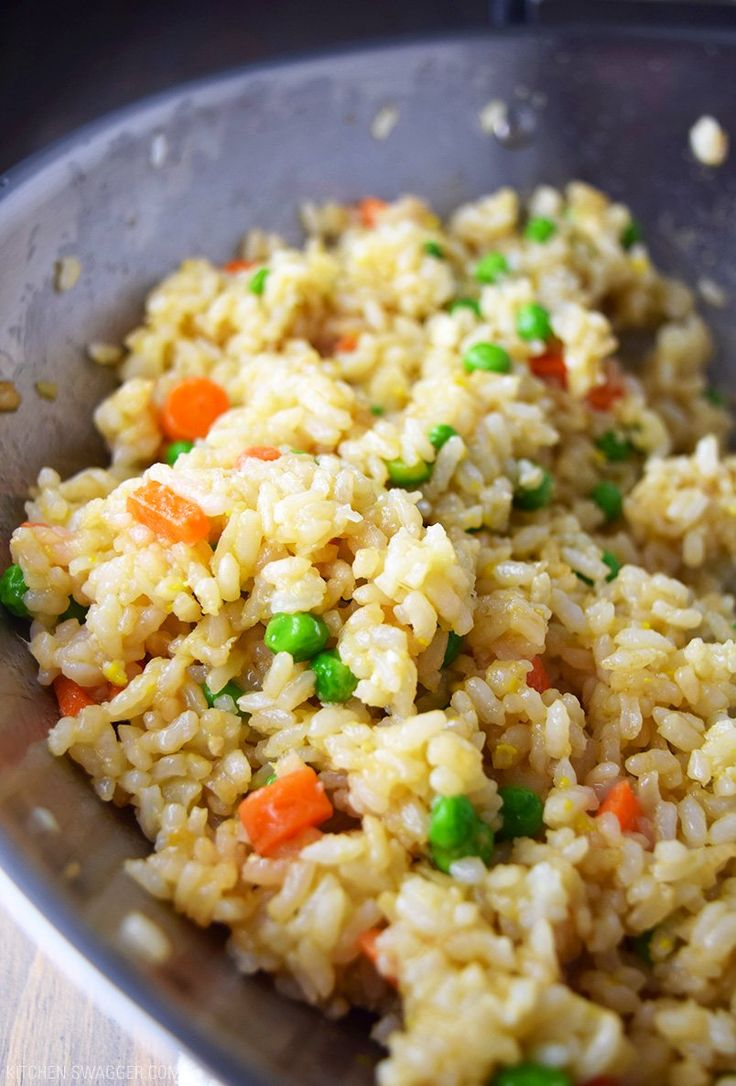 """Better than takeout hibachi-style fried rice recipe made with a secret """"peanut butter"""" sauce. Inspired by Japanese hibachi restaurants."""