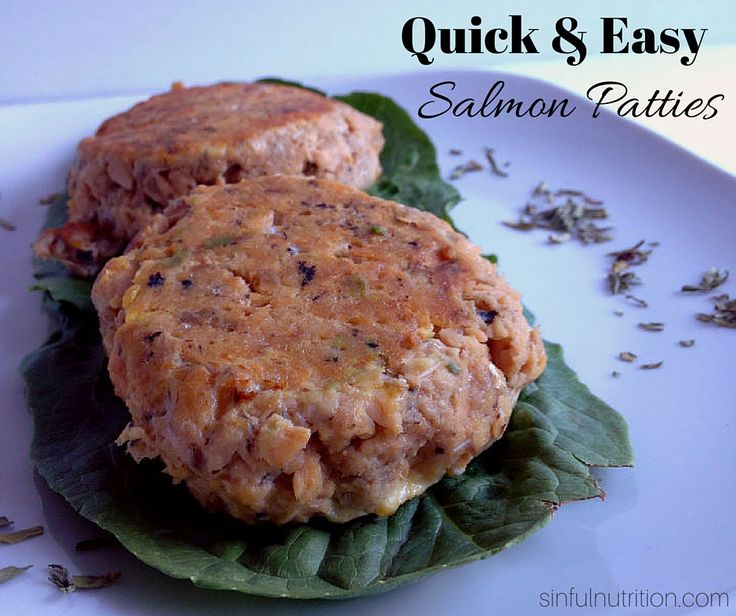 The Ultimate Quick & Easy Salmon Patty Recipe. A super fast and inexpensive way to get your salmon fix. No breadcrumbs required!