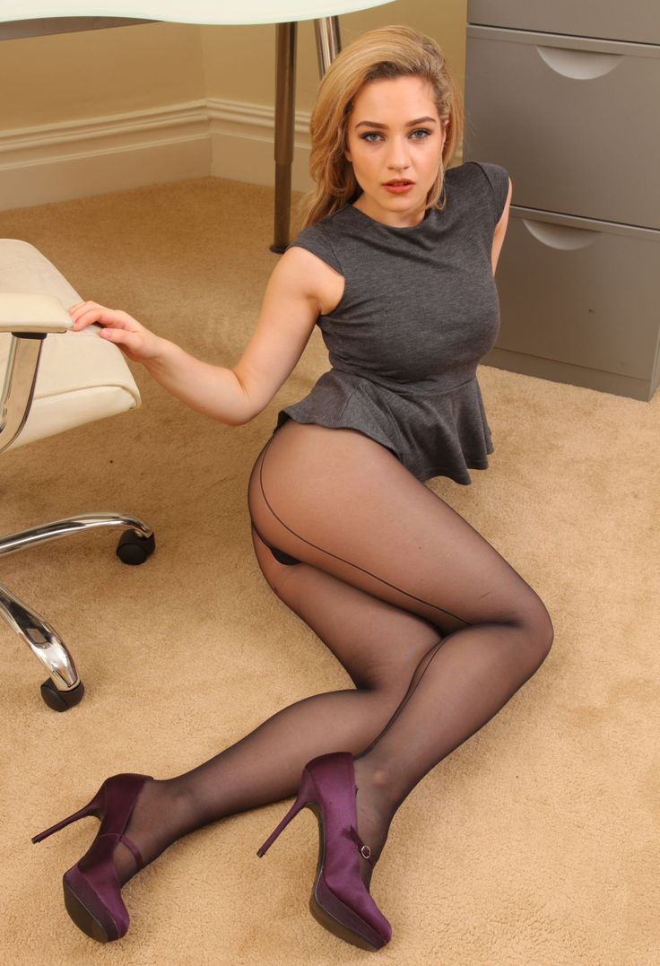 Woman mature women in heels and pantyhose