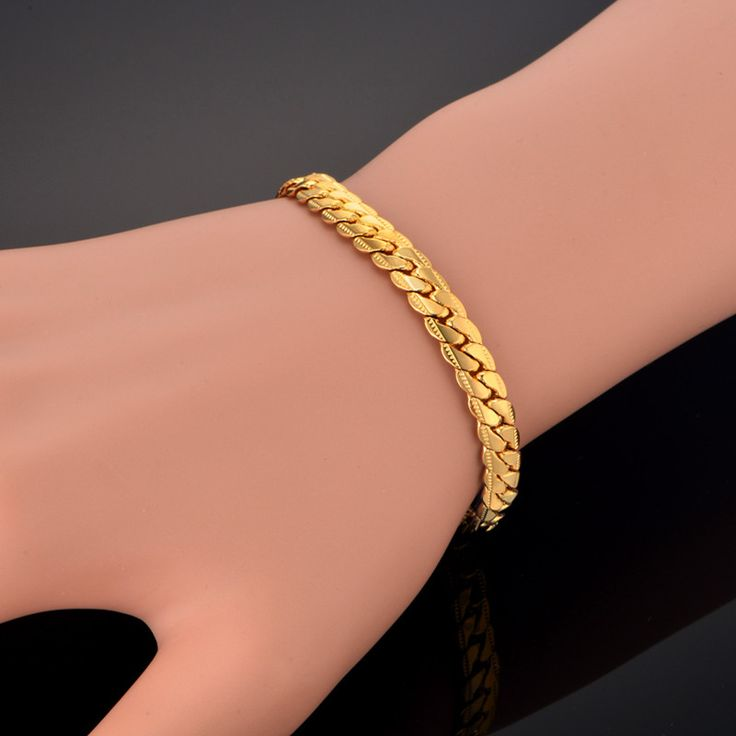 Wholesale Braslet Linked Jewelry Men's Bracelets Gold Color 7MM Width Snake Chain Link Bracelets For Women Mens Gold Chain. Yesterday's price: US $9.38 (7.62 EUR). Today's price: US $4.50 (3.66 EUR). Discount: 52%.