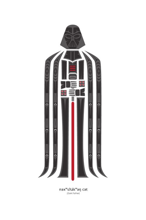 """Dark Father"" By Jeffrey Veregge - Pop Culture Art in a Traditional Native American Style !"