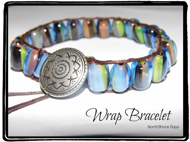 NorthShore Days.....: Easy Wrap Bracelet Tutorial