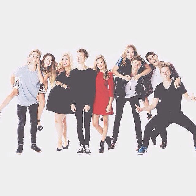 Marcus, Zoe, Louise, Joe, Naomi, Tanya, Jim, Alfie, Caspar-THE YOUTUBE CREW.