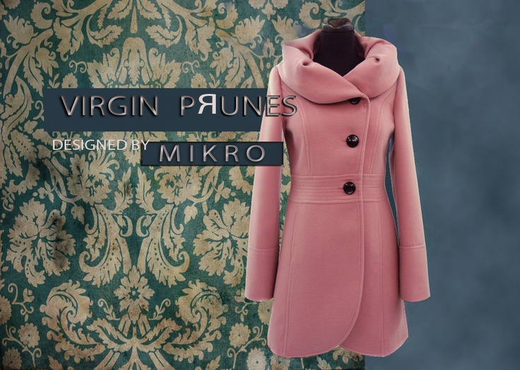 Tulip Coat- VIRGIN PRUNES by MIKRO