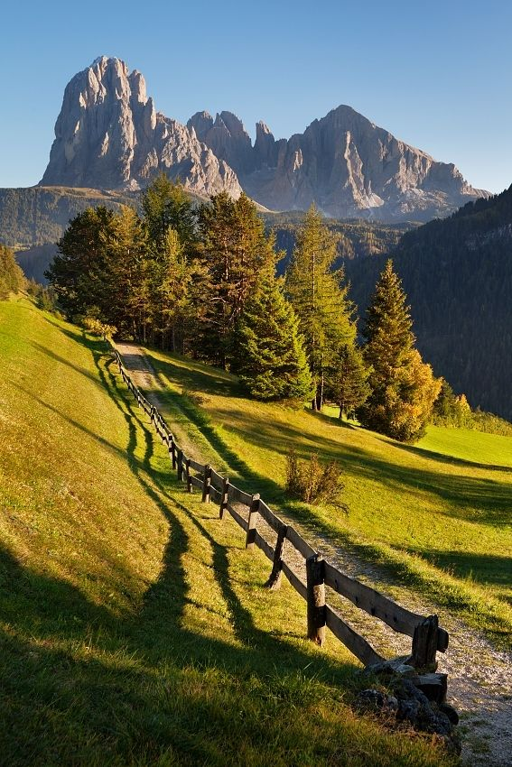 Picturesque Dolomites in northern Italy. Toured this region years ago. So beautiful.