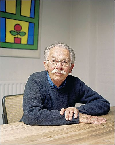 Dick Bruna, creator of Miffy. Paragraph 6 of this article melted my heart!