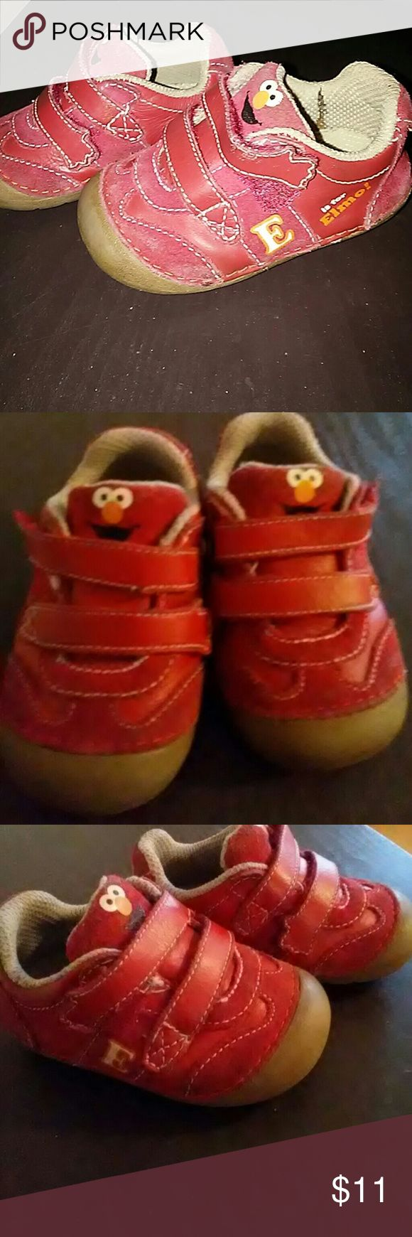 Stride Rite Elmo Baby Shoe Size 4 Adorable Elmo Stride Rite baby shoes, size 4. Does show minimal wear along the tongue of the shoe as shown in pictures. Stride Rite Shoes Sneakers