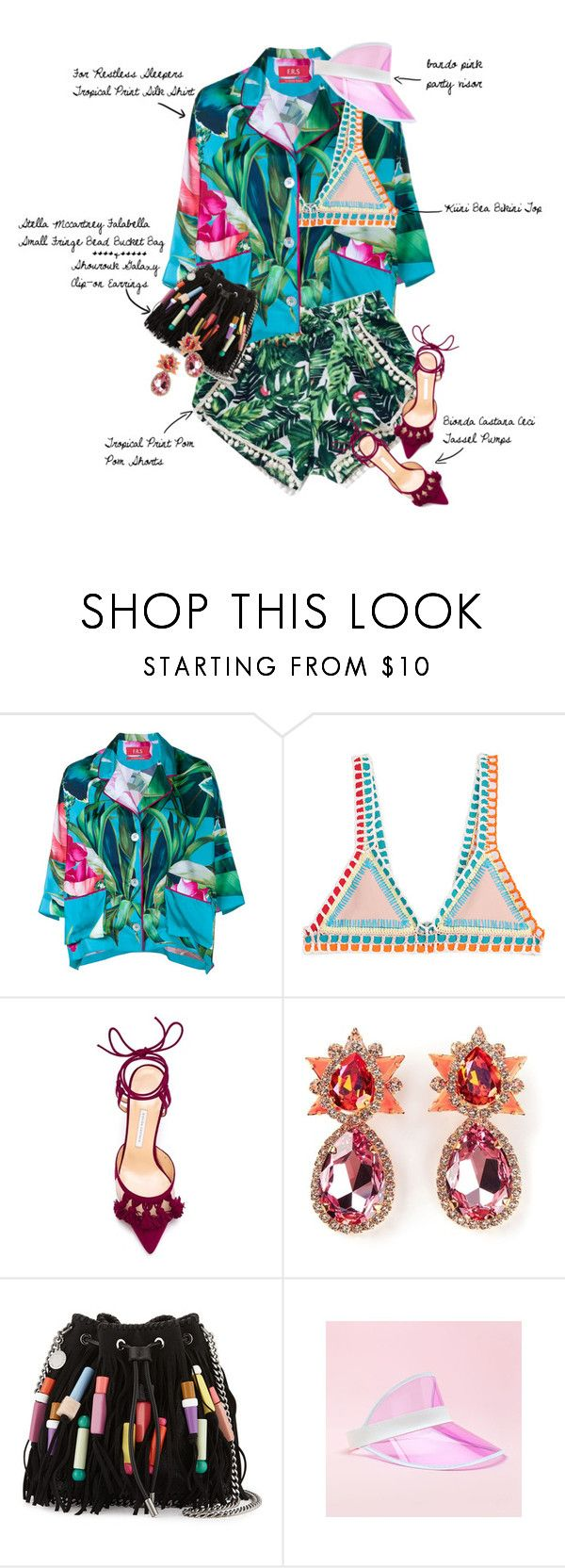 Tropical Mixer by fashionscribbles on Polyvore featuring F.R.S. For Restless Sleepers, kiini, Bionda Castana, STELLA McCARTNEY, Shourouk, tropicalprints and hottropics