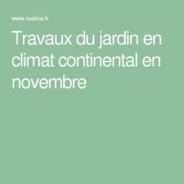 Travaux du jardin en climat continental en novembre