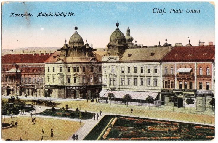Cluj - Piata Unirii în anul 1925