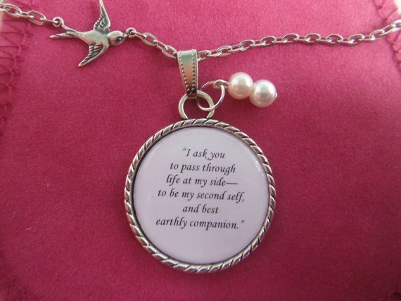 Jane Eyre Mr Rochester  Marriage Proposal Quote A Pendant Necklace on Etsy, $22.02