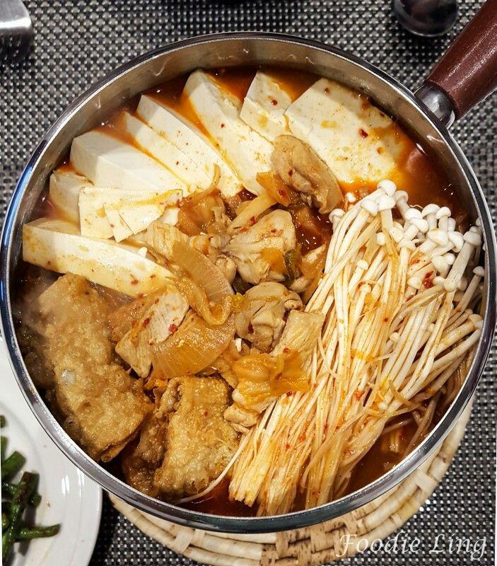 My quick version of Kimchi Jjigae - A super delicious spicy pork kimchi stew.  http://foodieling.com/2016/04/recipe-kimchi-jjigae.html