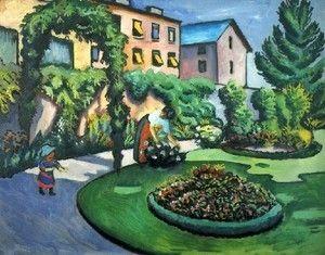 A Garden  August Macke