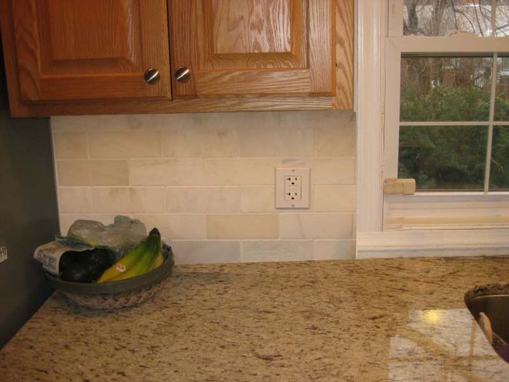 kitchen backsplashes | ... Grnite & White Subway Tile Backsplash? - Kitchens Forum - GardenWeb