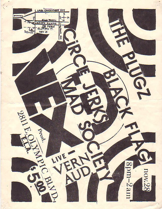 89 best tour posters images on pinterest concert posters gig the plugz black flag circle jerks mad society fandeluxe Choice Image