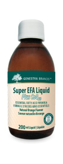 Super EFA Liquid Plus CoQ10 by Genestra - is a unique blend of fish oils from sardine and anchovy to specifically assist support cognitive health and brain function and to maintain overall cardiovascular health