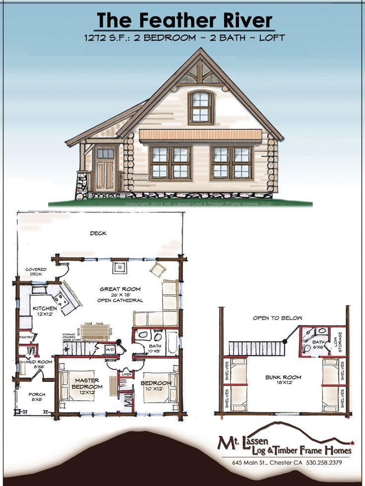 the feather river floor plans i love the loft with the built in bunks and