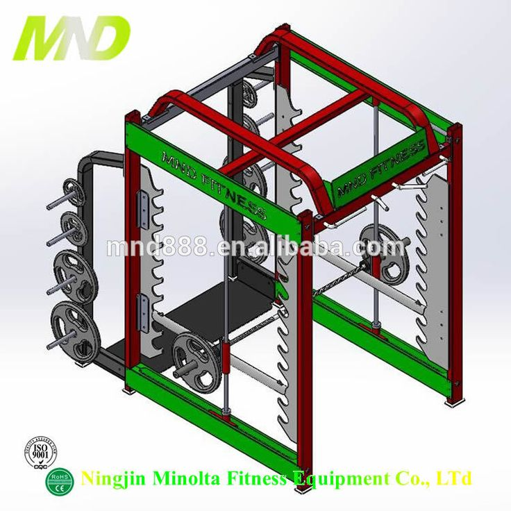 2016 New Commercial Fitness Equipment 3D Smith Machine For Gym