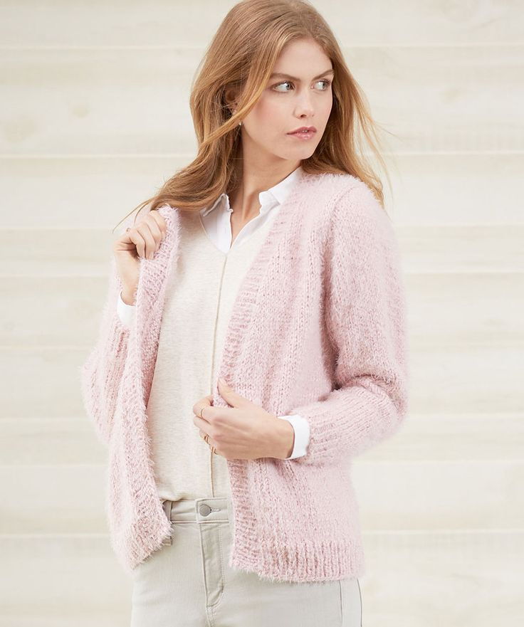 Free Knitting Pattern for a No-Button Cozy Knit Cardigan ...