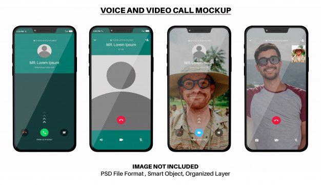Iphone call screen mockup