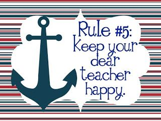 New Whole Brain Teaching Rules, Nautical style - link to freebie