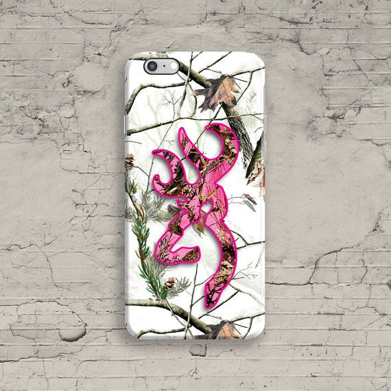 Snow Deer Head iPhone 6 Case Pink White Camo by ByKustomKase
