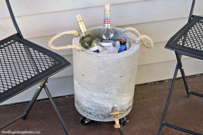 Concrete Beverage Cooler