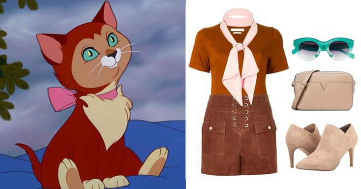 5 Disney-Inspired Outfits for International Cat Day | Dinah from Alice in Wonderland | neutral monochromatic outfit + neck scarf | [ http://di.sn/6002BF8yy ]