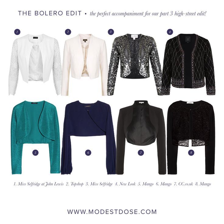 Bolero's suitable for wear with the dresses featured in our  high-street sales edit: part 3!