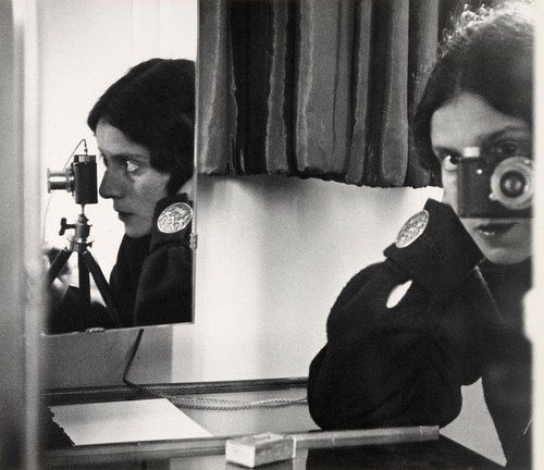 "Self-Portrait in Mirrors.1931. Gelatin silver print, 10 1/2 x 12"" (26.8 x 30.8 cm). The Museum of Modern Art, New York. Joseph G. Mayer Fund. © 2010 The Ilse Bing Estate/Courtesy Edwynn Houk Gallery"