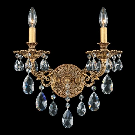 Schonbek Lighting 6942 Sophia Wall Sconce - Florentine Bronze.  Two, for either side of bed.  Ordered 20131015.