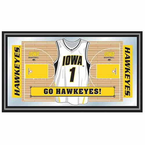 Cheer on your Hawkeyes basketball team every day when you hang the College Logo Framed Basketball Jersey Mirror in your room - only $65.00
