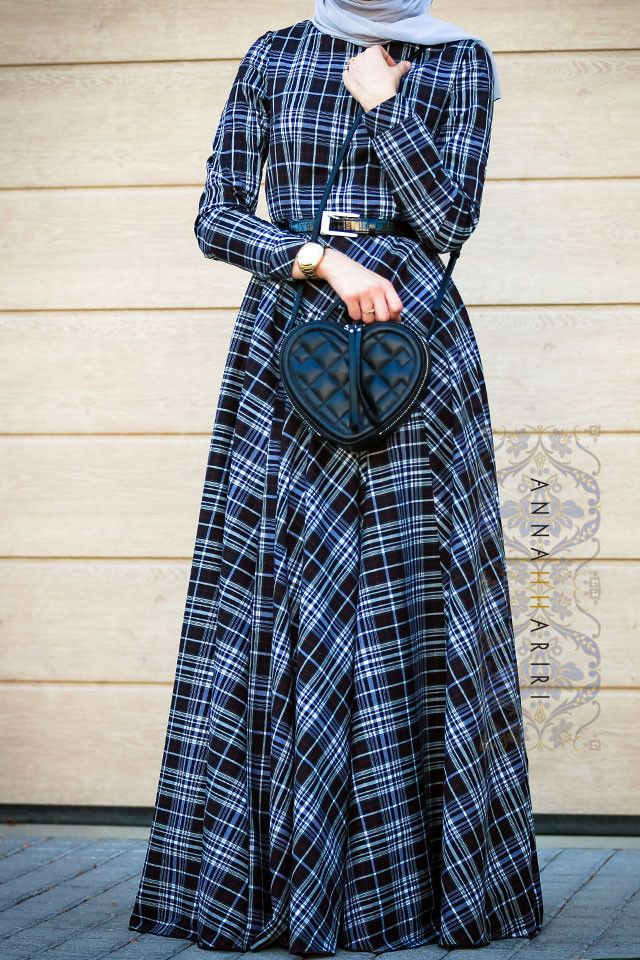 Checkered Print by ANNAH HARIRI - islamic clothing. Back in stock - available for a PRE-ORDER