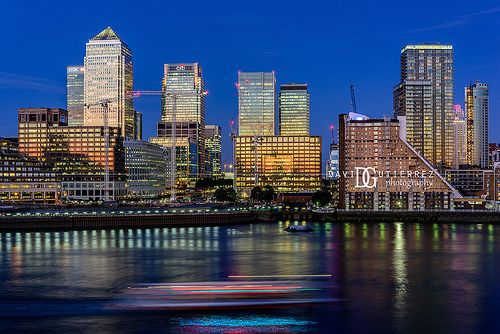"""""""Deep in the City"""" Canary Wharf, London, UK. Image by David Gutierrez Photography, London Photographer. London photographer specialising in architectural, real estate, property and interior photography. http://www.davidgutierrez.co.uk #realestate #property #commercial #architecture #London #Photography #Photographer #Art #UK #City #Urban #Beautiful #Interior #Arts #Cityscape #Travel #Building #River #Bridge #Night #Twilight #Street #CanaryWharf"""