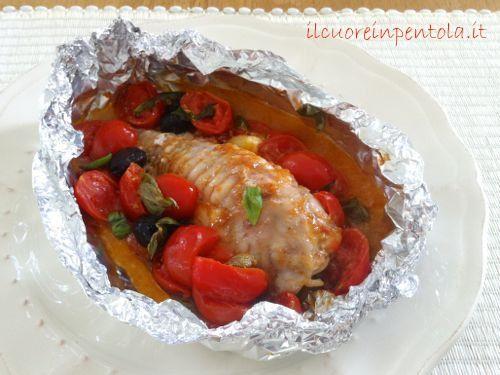 La rana pescatrice al cartoccio è una ricetta molto semplice da realizzare che esalta il gusto del pesce. Io l'ho preparata con pomodorini, olive e capperi...