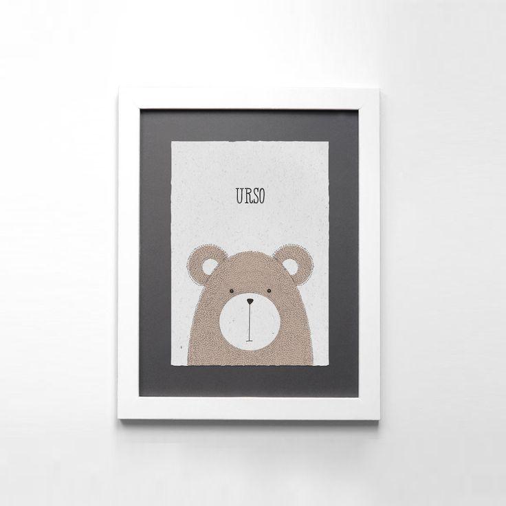 Uma ilustração de um urso para decorarem o quarto dos vossos filhotes, para encomendarem enviem mail para madebycatia@gmail.com