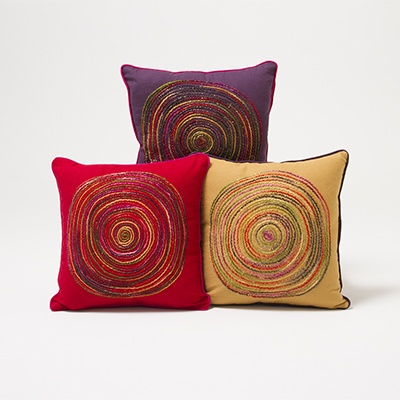 Yarn Spiral Cushion Cover     List $16.99   Various colours  16inches widex 16inches long