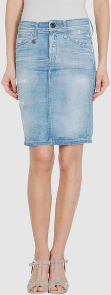 G-star Raw Blue Denim Skirt