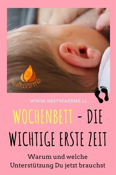 """Nach der Geburt gilt die Frau als """"Wöchnerin"""" und dies 6 Wochen lang, so la…"""