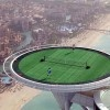 February 22, 2005, Andre Agassi and Roger Federer were invited to play a friendly tennis match on The Hotel Burj Al Arab's helipad situated 211 meters high, before heading to the US$1 million Dubai Duty Free Men's Open.