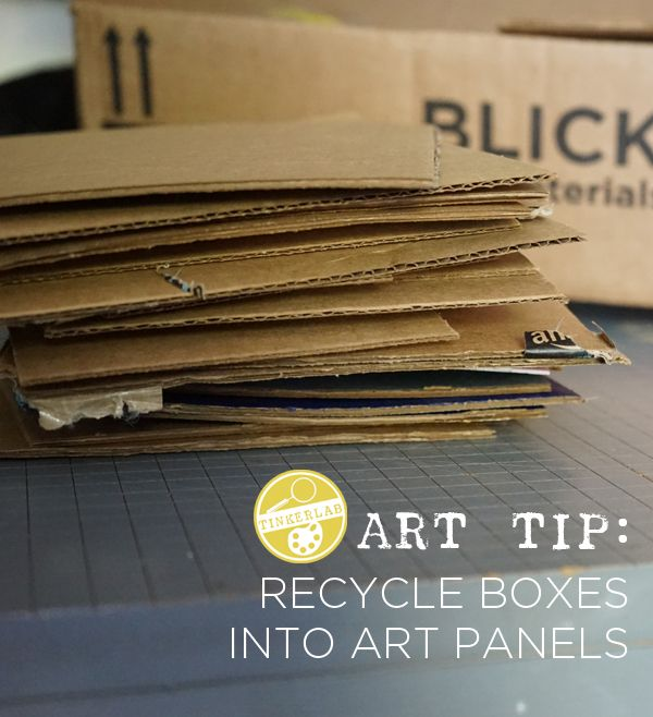 Such a helpful Art Tip: Recycle Boxes into Art Panels   TinkerLab.com